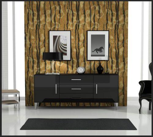 Exclusief luxe behang Profhome 822605 vinylbehang gestempeld met tijgerstrepen glimmend bruin beige zwart 5,33 m2 – Bild 6