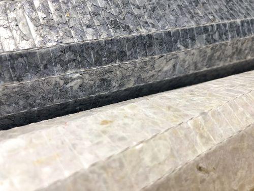 Revêtement mural de luxe coquille WallFace CSA02 CAPIZ papier peint intissé fait à la main avec des vraies coquilles de Capiz optique nacré blanc crème 2,45 m2