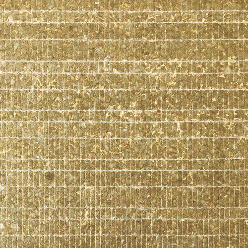 Revêtement mural de luxe coquille WallFace CSA07 CAPIZ papier peint intissé fait à la main avec des vraies coquilles de Capiz optique nacré brun-doré 2,45 m2 – Bild 1