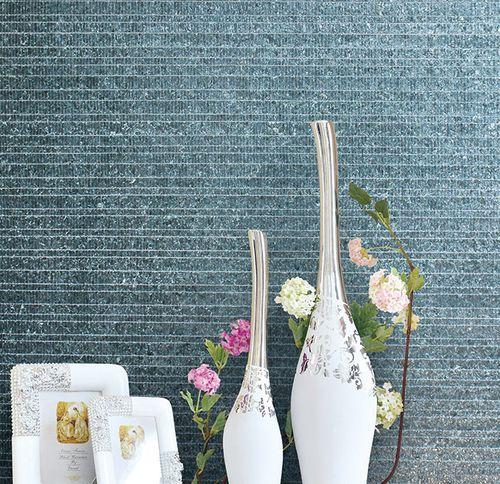 Revêtement mural de luxe coquille WallFace CSA09 CAPIZ papier peint intissé fait à la main avec des vraies coquilles de Capiz optique nacré gris 2,45 m2 – Bild 8