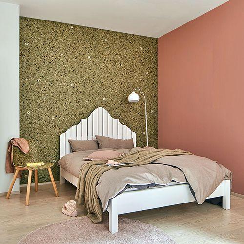 Wandverkleidung AL-11004-SA ALPINE WHITE DAISY 100% natürliches Almwiesen-Dekor braun – Bild 3