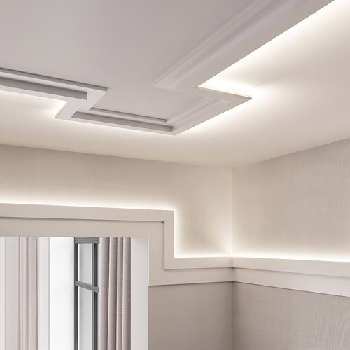 Cornice moulding Coving  Moulding for indirect lighting 2 m Orac Decor C395 MODERN STEPS – Bild 14