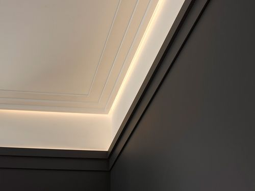 Cornice moulding Coving  Moulding for indirect lighting 2 m Orac Decor C395 MODERN STEPS – Bild 6