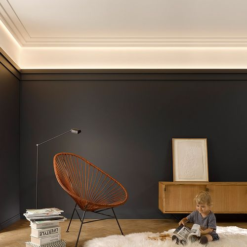 Cornice moulding Coving  Moulding for indirect lighting 2 m Orac Decor C396 MODERN STEPS – Bild 15