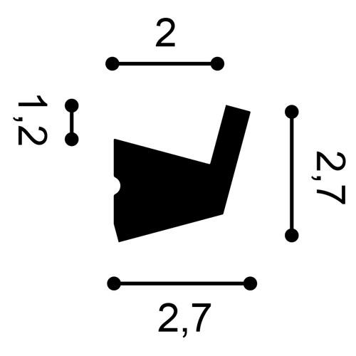 Cornisa Orac Decor CX189 AXXENT Moldura para luz indirecta Perfil de estuco dise/ño moderno blanco 2 m