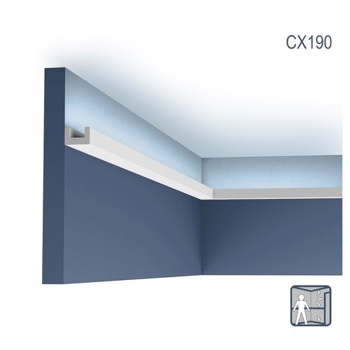 Cornice moulding Coving Moulding for indirect lighting 2 m Orac Decor CX190 AXXENT U-PROFILE – Bild 1
