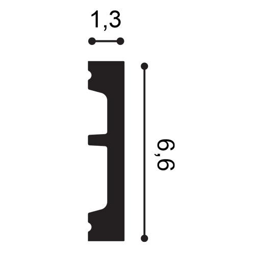Battiscopa Orac Decor SX157 AXXENT SQUARE zoccolino cornice parete profilo multifunzione design moderno bianco 2 m – Bild 2