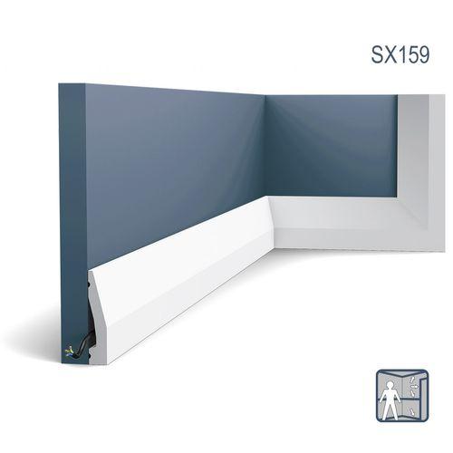 Battiscopa Orac Decor SX159 AXXENT zoccolino cornice parete profilo multifunzione design moderno bianco 2 m – Bild 1