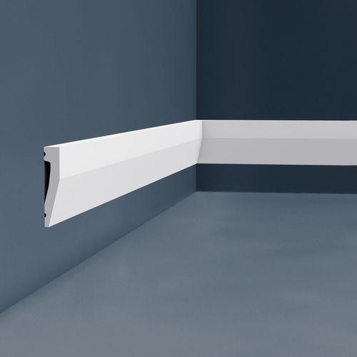 Sockelleiste Orac Decor SX159 AXXENT Sockelleiste Wandleiste Zierleiste modernes Design weiß 2 m – Bild 3