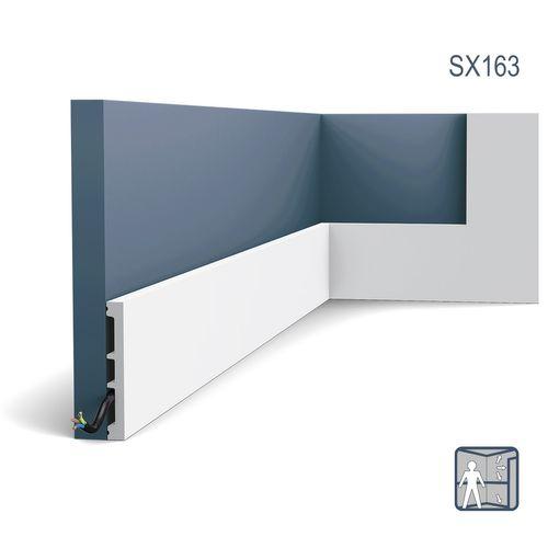 Plint Orac Decor SX163 AXXENT SQUARE multifunctionele plint wandlijst sierlijst tijdeloos klassieke stijl wit 2 m – Bild 1