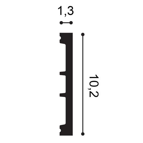 Battiscopa Orac Decor SX163 AXXENT SQUARE zoccolino cornice parete profilo multifunzione design classico senza tempo bianco 2 m – Bild 2