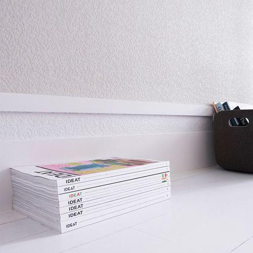 Battiscopa Orac Decor SX163 AXXENT SQUARE zoccolino cornice parete profilo multifunzione design classico senza tempo bianco 2 m – Bild 5