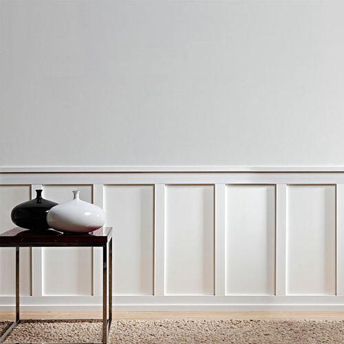 Battiscopa Orac Decor SX163 AXXENT SQUARE zoccolino cornice parete profilo multifunzione design classico senza tempo bianco 2 m – Bild 7