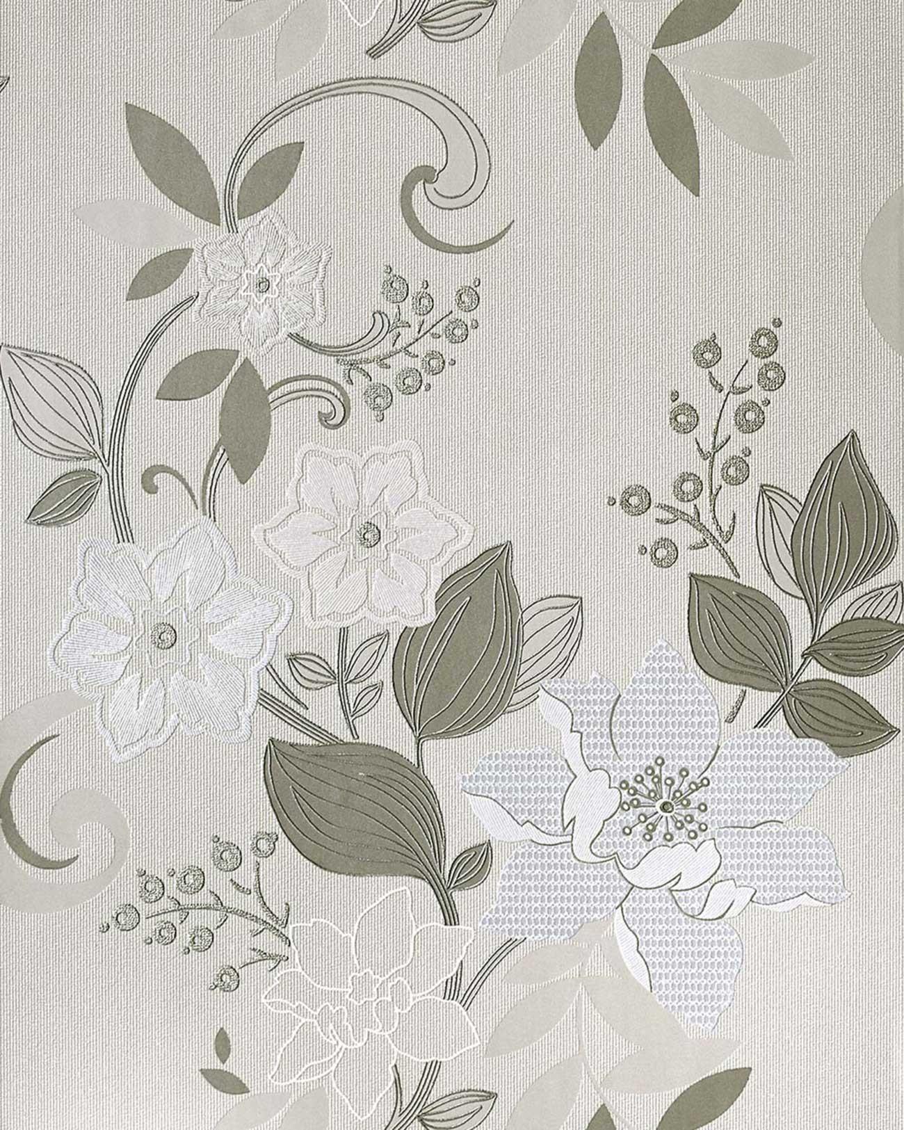 Carta da parati floreale EDEM 029-20 Carta da parati a fiori in ...