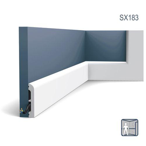 Plint Orac Decor SX183 AXXENT CASCADE multifunctionele plint wandlijst sierlijst modern design wit 2 m – Bild 1