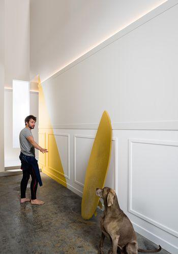 Battiscopa Orac Decor SX184 AXXENT CASCADE zoccolino cornice parete profilo multifunzione design moderno bianco 2 m – Bild 4