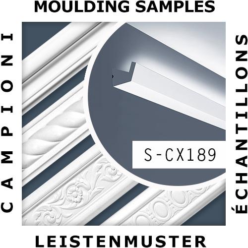 1 ÉCHANTILLON S-CX189 Orac Decor AXXENT | ÉCHANTILLON Corniche Moulure décorative Longueur env. 10 cm