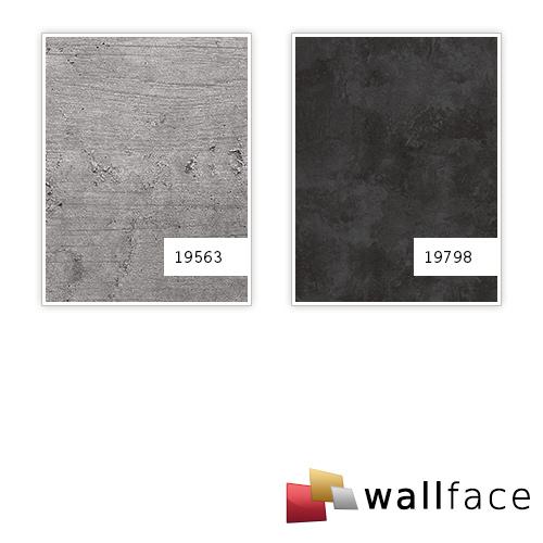 Dekorpaneel Stein Optik WallFace 19798 Antigrav CEMENT Dark Wandverkleidung strukturiert in Beton Optik matt anthrazit 2,6 m2 – Bild 3