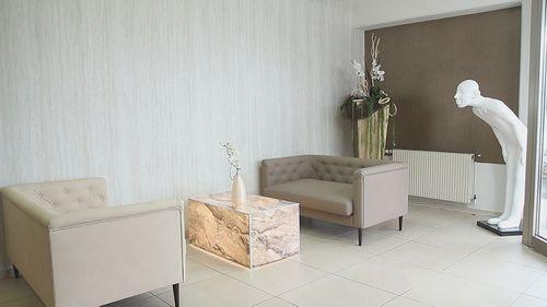 Wandpaneel Stein Optik WallFace 19567 Antigrav Travertin Dekorpaneel strukturiert in Kalkstein Optik matt grau weiß 2,6 m2 – Bild 2