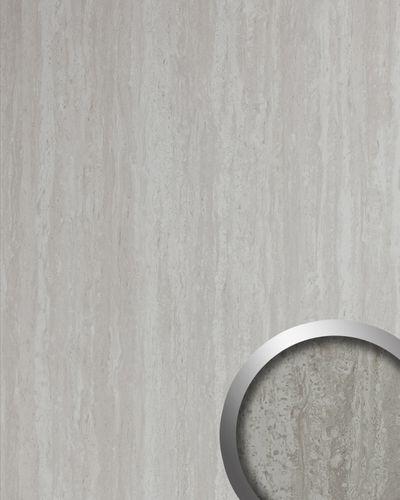 Wandpaneel Stein Optik WallFace 19567 Antigrav Travertin Dekorpaneel strukturiert in Kalkstein Optik matt grau weiß 2,6 m2 – Bild 1