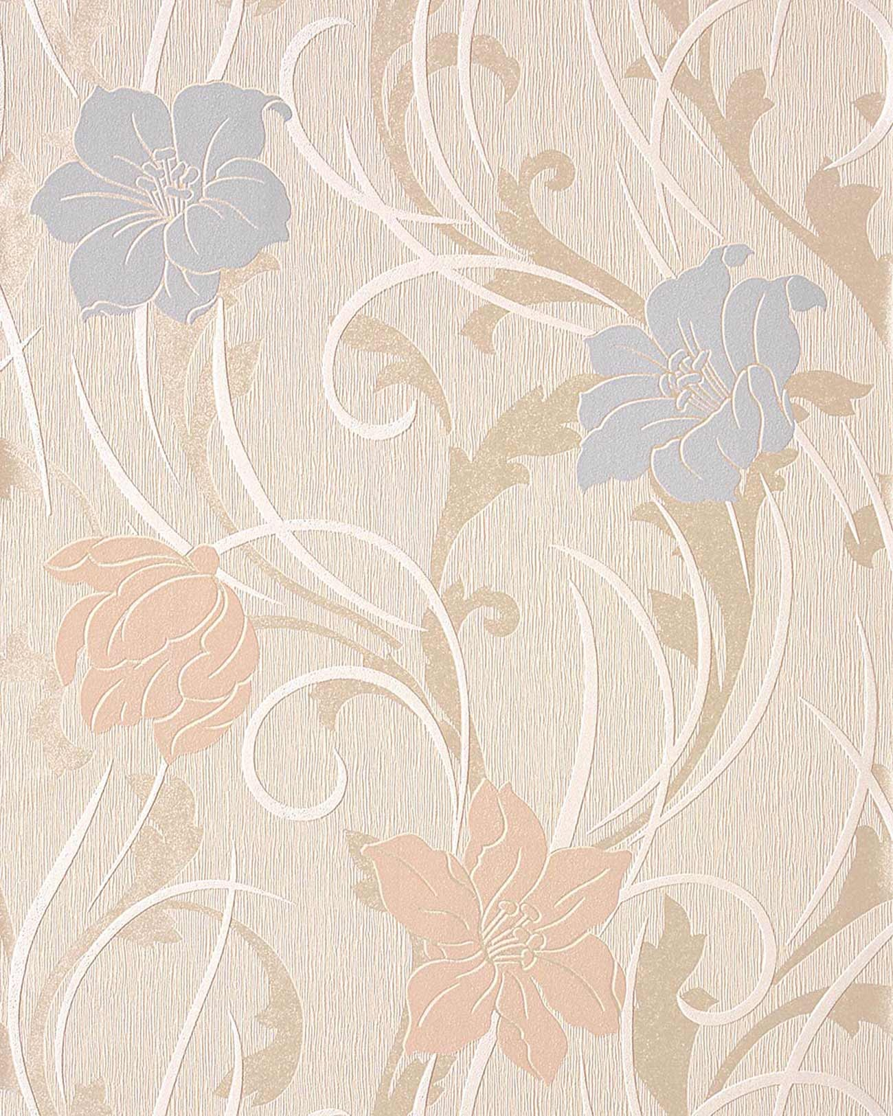 Wallpaper Wall Wallcovering Style Flower Floral EDEM Cream - Light pink wallpaper for bedrooms