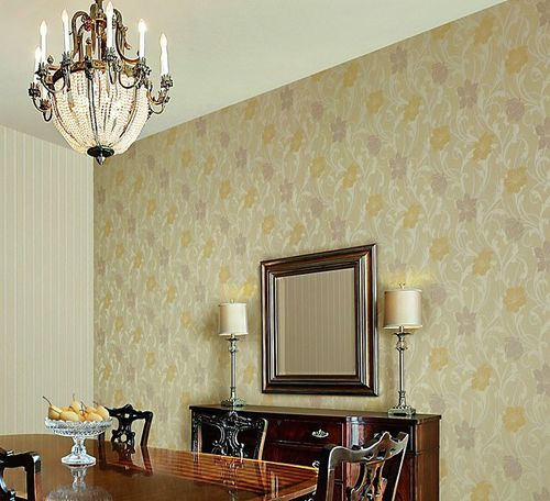 Wallpaper wall wallcovering style flower floral EDEM 111-33 cream beige light pink light violet pearl  – Bild 4