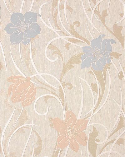 Wallpaper wall wallcovering style flower floral EDEM 111-33 cream beige light pink light violet pearl  – Bild 1