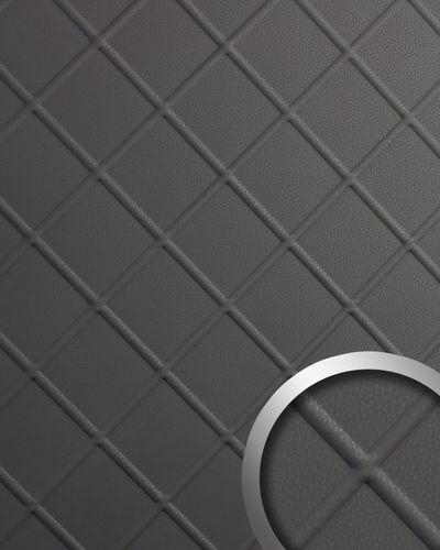 Wandverkleidung Nappaleder Optik WallFace 19764 Antigrav CORD Charcoal Light Wandpaneel glatt in Leder Optik matt grau 2,6 m2 – Bild 1