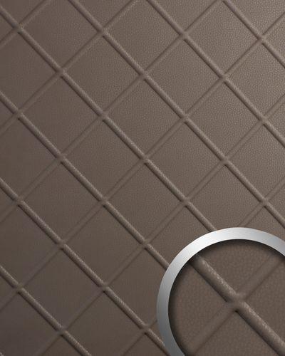 Wandverkleidung Nappaleder Optik WallFace 19765 Antigrav CORD Dove Tale Wandpaneel glatt in Leder Optik matt braun 2,6 m2 – Bild 1