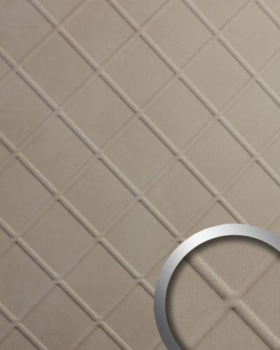 Wandverkleidung Nappaleder Optik WallFace 19766 Antigrav CORD Stony Ground Wandpaneel glatt in Leder Optik matt beige 2,6 m2 – Bild 1