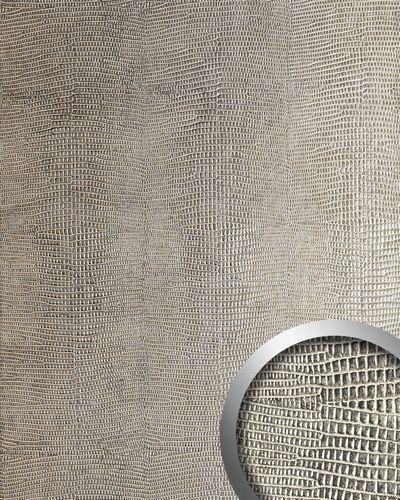 Dekorpaneel Leder Optik WallFace 19781 Antigrav LEGUAN Silver Wandverkleidung glatt in Leguanleder Optik matt silber grau-beige 2,6 m2 – Bild 1