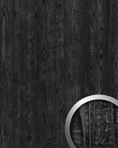 Dekorpaneel Natur Dekor WallFace 20158 Antigrav Carbonized Wood Wandverkleidung strukturiert in Holz Optik matt anthrazit grau 2,6 m2 – Bild 1