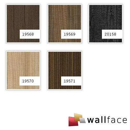 Wandpaneel Natur Dekor WallFace 19571 Antigrav Wenge Wood Dekorpaneel strukturiert in Holz Optik matt braun dunkel-braun 2,6 m2 – Bild 3