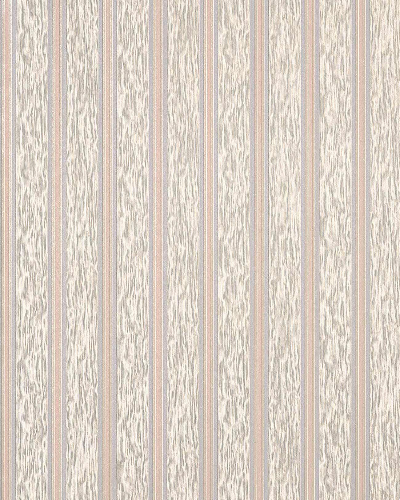Carta da parati a strisce in beige rosa viola chiaro edem for Carta da parati beige