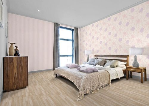 Style striped wall wallpaper wall covering EDEM 112-33 beige cream light pink light violett pearl  – Bild 2