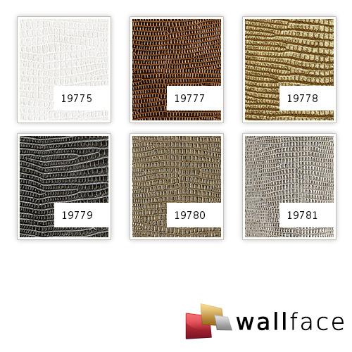 1 MUSTERSTÜCK S-19775 WallFace LEGUAN BIANCO ANTIGRAV Collection | Wandpaneel MUSTER in ca. DIN A4 Größe – Bild 2