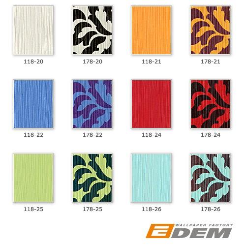 Effen behang EDEM 118-21 oranje vinyl behang geel oranje met parelmoer accent – Bild 3