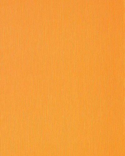 Carta da parati monocolore moderno in giallo arancione perlato EDEM 118-21 – Bild 1