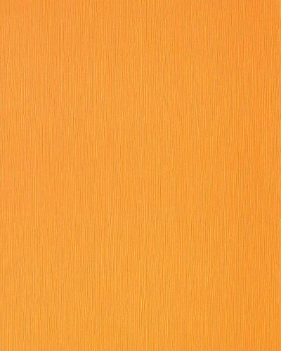 Uni Tapete EDEM 118-21 Tapete gestreift Vinyltapete gute Laune Farbe gelb-orange perlmutt-akzent – Bild 1