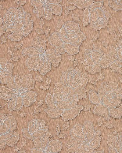 Wallpaper wall floral vinyl covering EDEM 173-36 light brown silver  – Bild 1