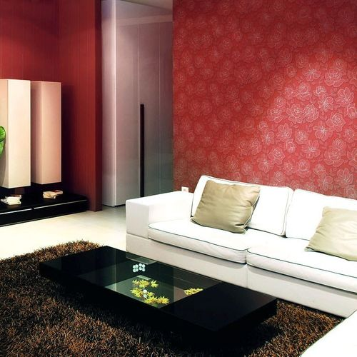 Wallpaper wall floral vinyl covering EDEM 173-36 light brown silver  – Bild 4