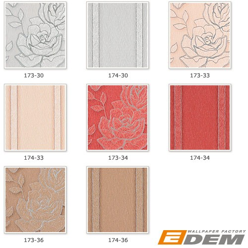 Wallpaper wall floral vinyl covering EDEM 173-36 light brown silver  – Bild 5