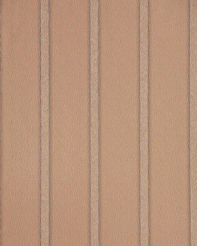 Vinyl stripes wall covering wallpaper EDEM 174-36 light brown silver  – Bild 1