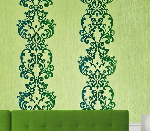 Baroque ornament wallpaper modern art wallcovering EDEM 178-25 green olive blue pearl  – Bild 4