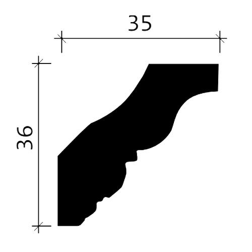 Eckleiste PROFHOME 150206 Zierleiste Stuckleiste Neo-Klassizismus-Stil weiß 2 m – Bild 3