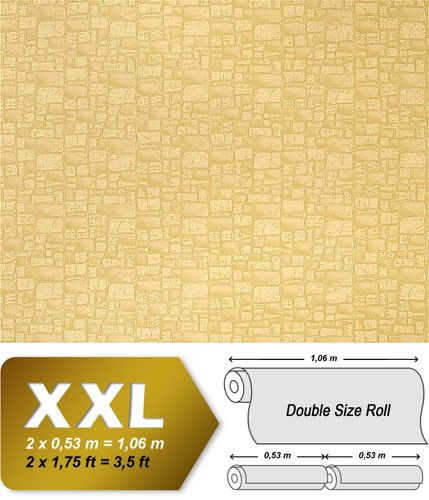 Vinyl non-woven wallpaper wall EDEM 922-21 Wallcovering stone textured heavyweight beige green  – Bild 1