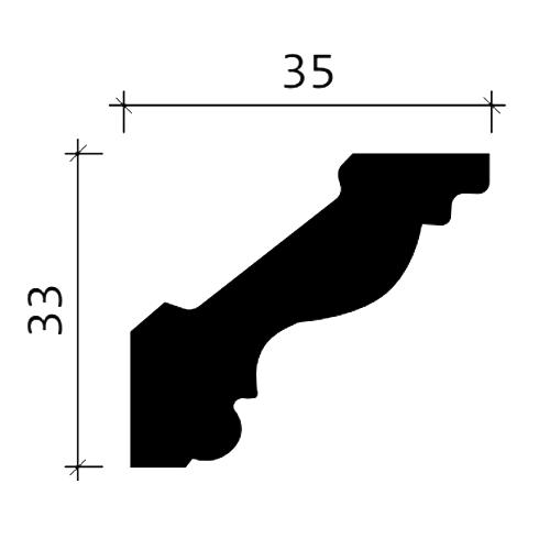 Eckleiste PROFHOME 150272 Zierleiste Stuckleiste Neo-Empire-Stil weiß 2 m – Bild 3