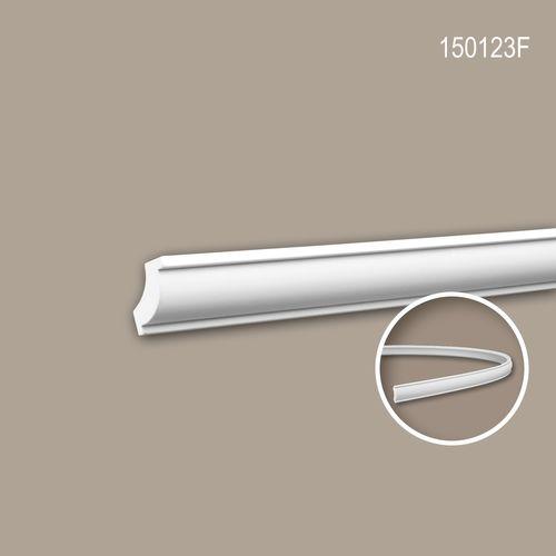 Eckleiste PROFHOME 150123F Zierleiste Flexible Leiste Stuckleiste Zeitloses Klassisches Design weiß 2 m – Bild 1