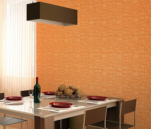 Wall covering wallpaper non woven EDEM 922-29 stone textured heavyweight green beige light olive  – Bild 3