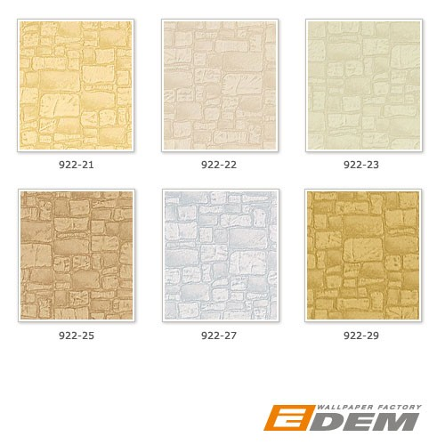 Wall covering wallpaper non woven EDEM 922-29 stone textured heavyweight green beige light olive  – Bild 4